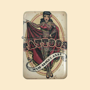 Tattoo Parlor Windproof Lighter with Tin