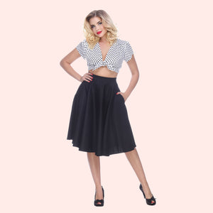 Bettie Page Swing Skirt in Black