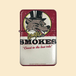 Wolfie's Smokes Windproof Lighter with Tin