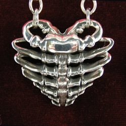 Heart Rib Cage Necklace by Skinny Dog Design