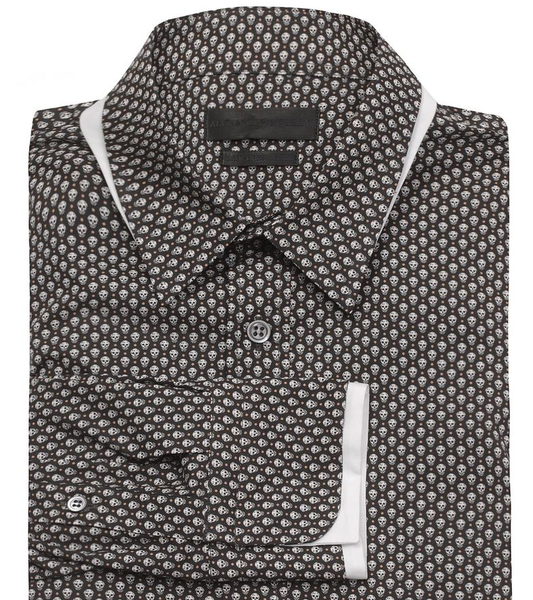 Skull Print Button Up Shirt by Alexander McQueen