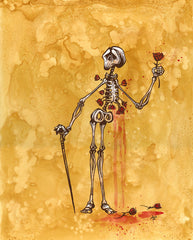 Skeleton Holding a Rose