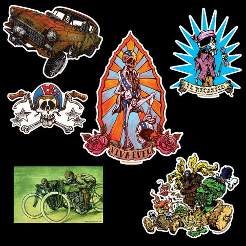 Kustom Kulture Sticker Multipack