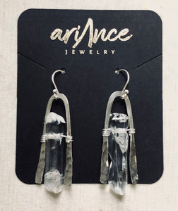 Cold World Quartz Earrings