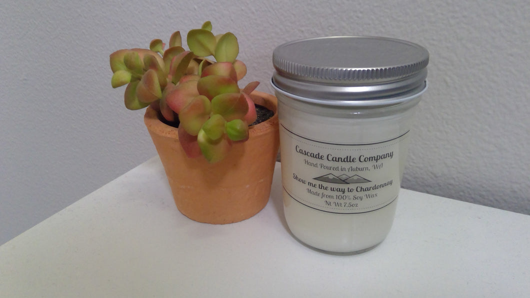 Closeout 7oz Soy Candle Show me the way to Chardonnay