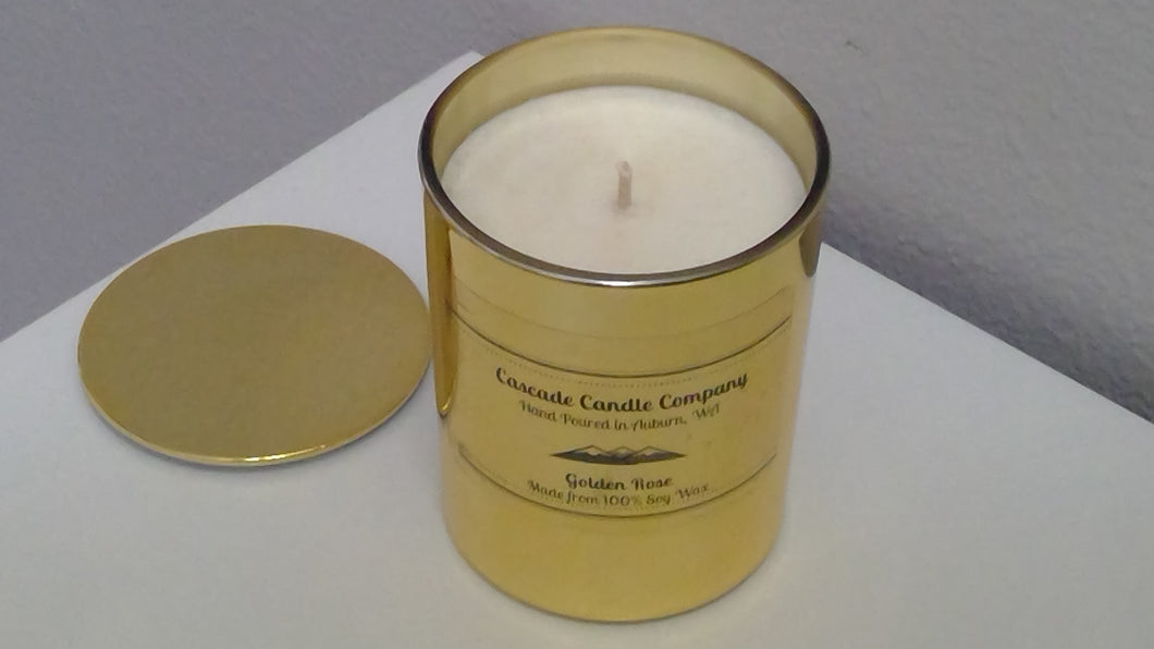 Limited Edition ~ 8oz Soy Candle Golden Rose