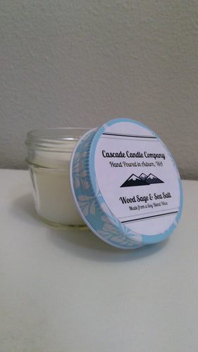 Closeout 3.5oz Soy Candle Wood Sage & Sea Salt