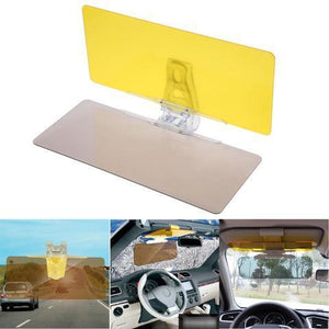 HD Vision Car Visor (Includes 2 Pcs Visors: Day and Night) for Sun and Night Glare Protection