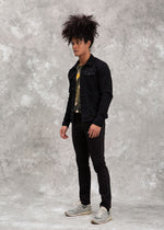 JACKET DENIM BLACK SS20