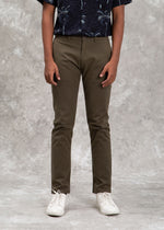 CHINO PANTS FIT 220 OLIVE SS20