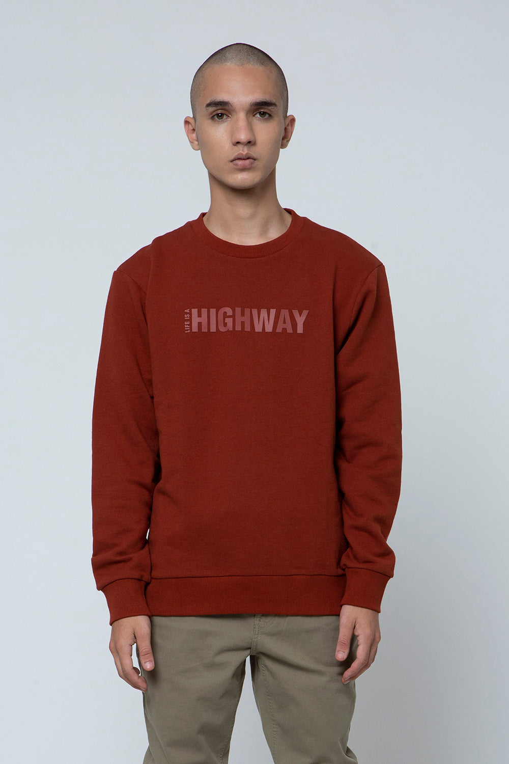 SWEATSHIRT DARK BROWN SS20