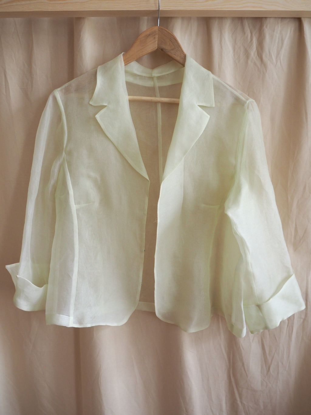 Transparent silk blazer