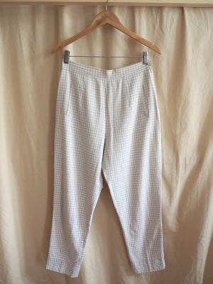 Checked Cotton Trousers