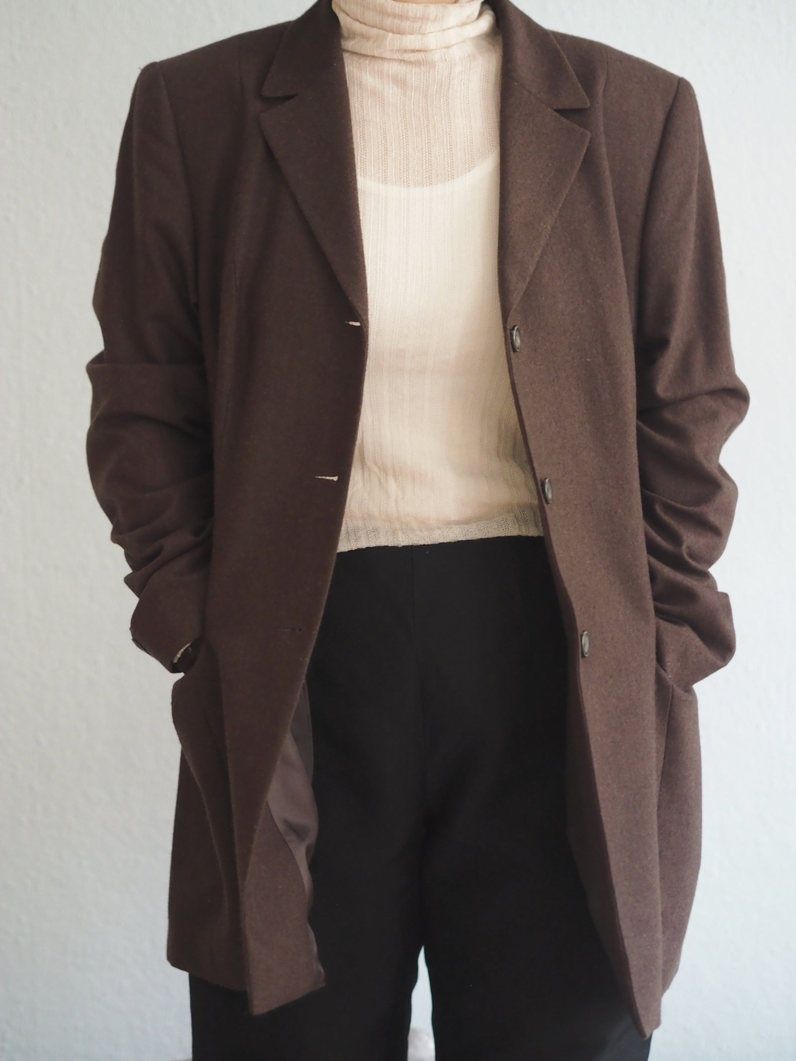 Vintage New Wool Long Blazer