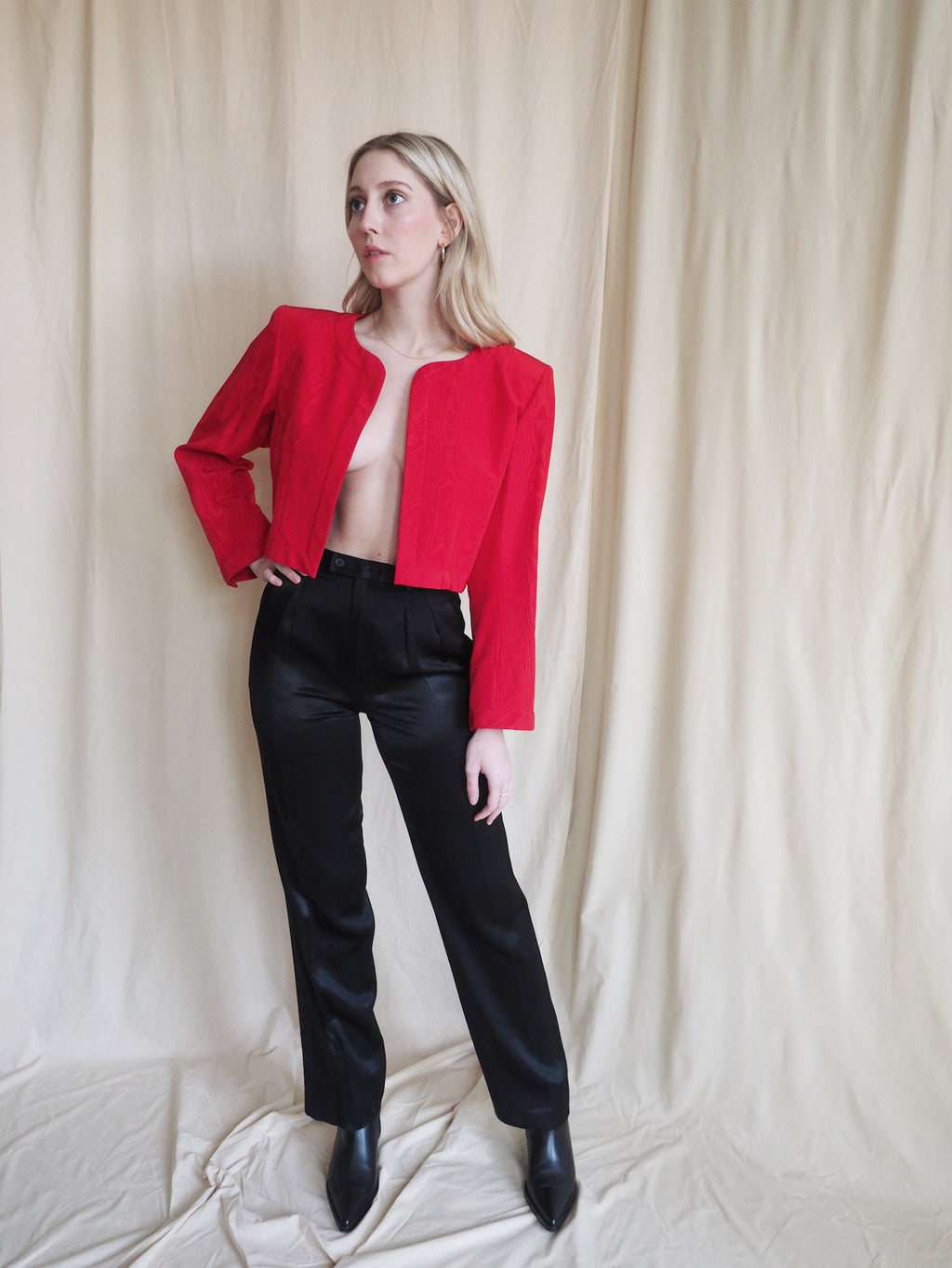 Vintage Yves Saint Laurent Satin Trousers