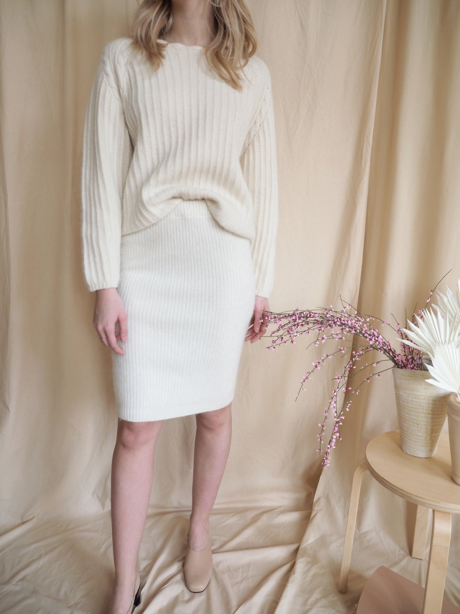 Lambswool & Angora Cable Knit