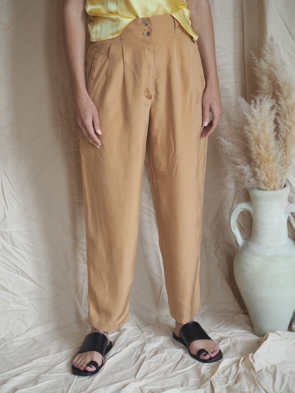 Jil Sander Silk Trousers