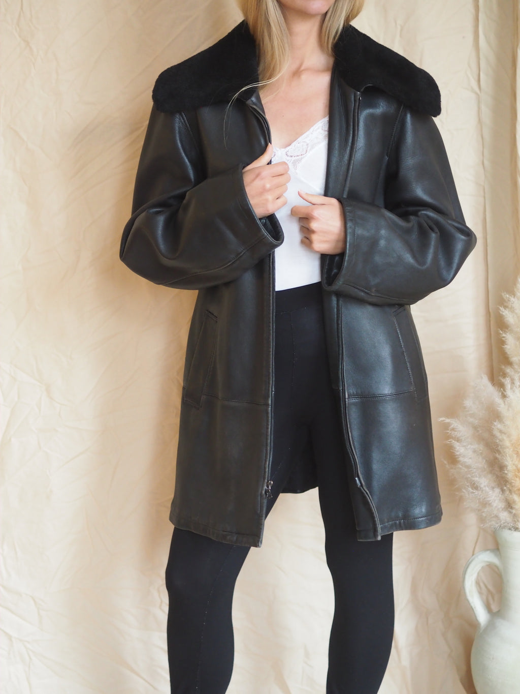 Jil Sander Leather Coat