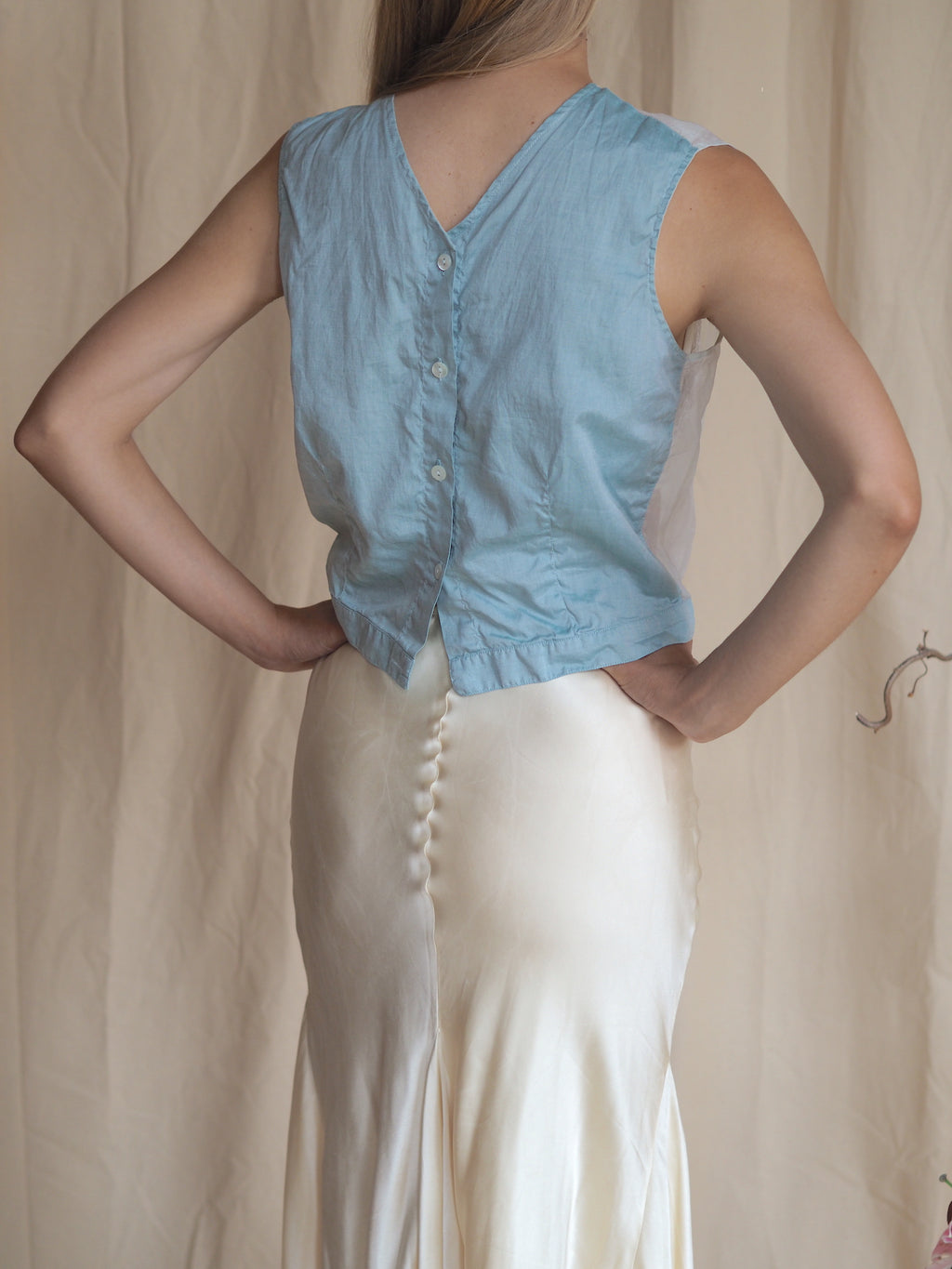 Draped Silk Skirt