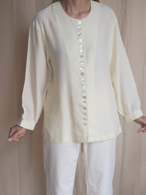 Silk Blouse With Button Details