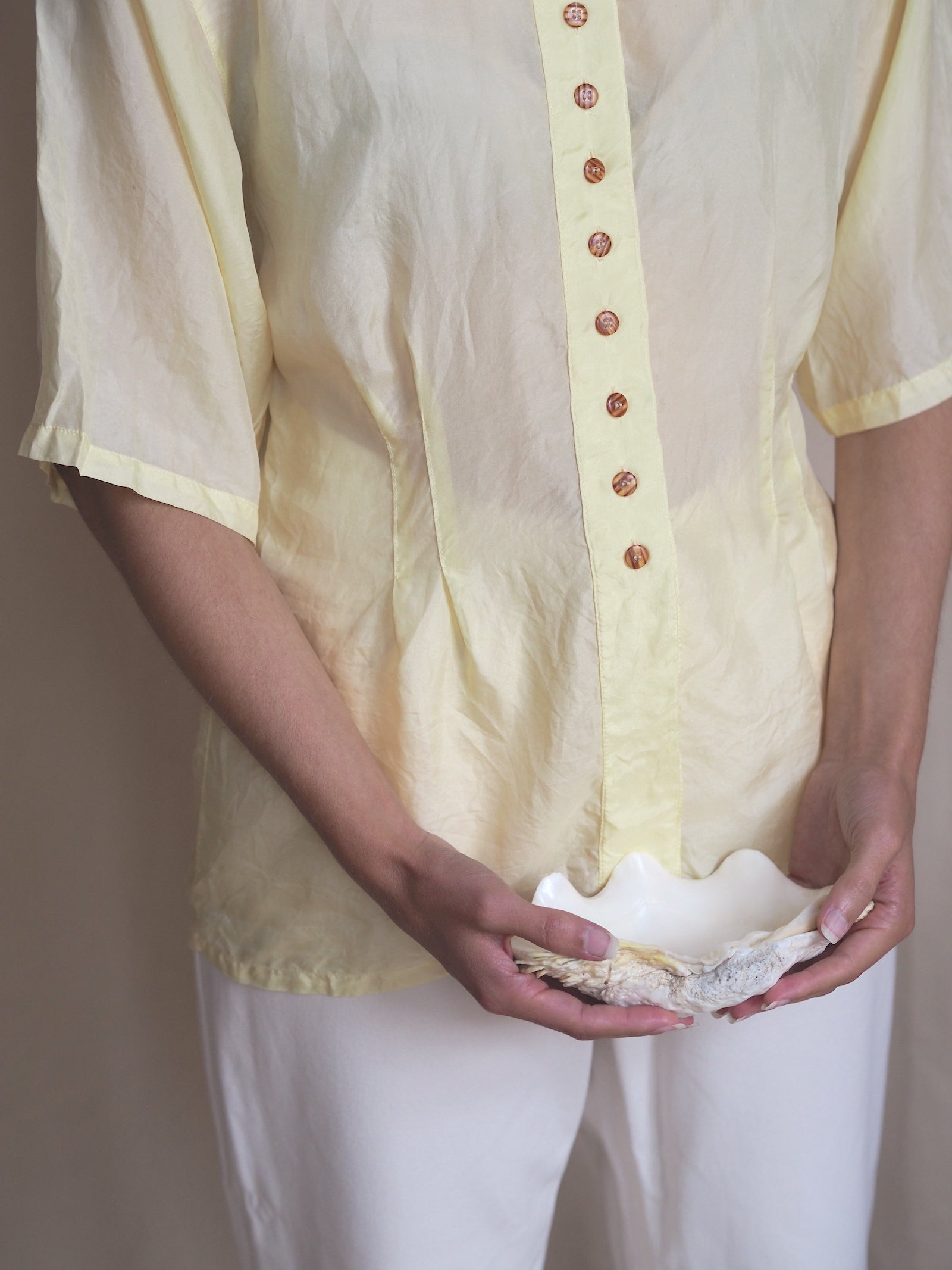 Yellow Silk Blouse