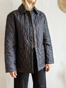 Vintage Quilted Cocoon Liner Coat
