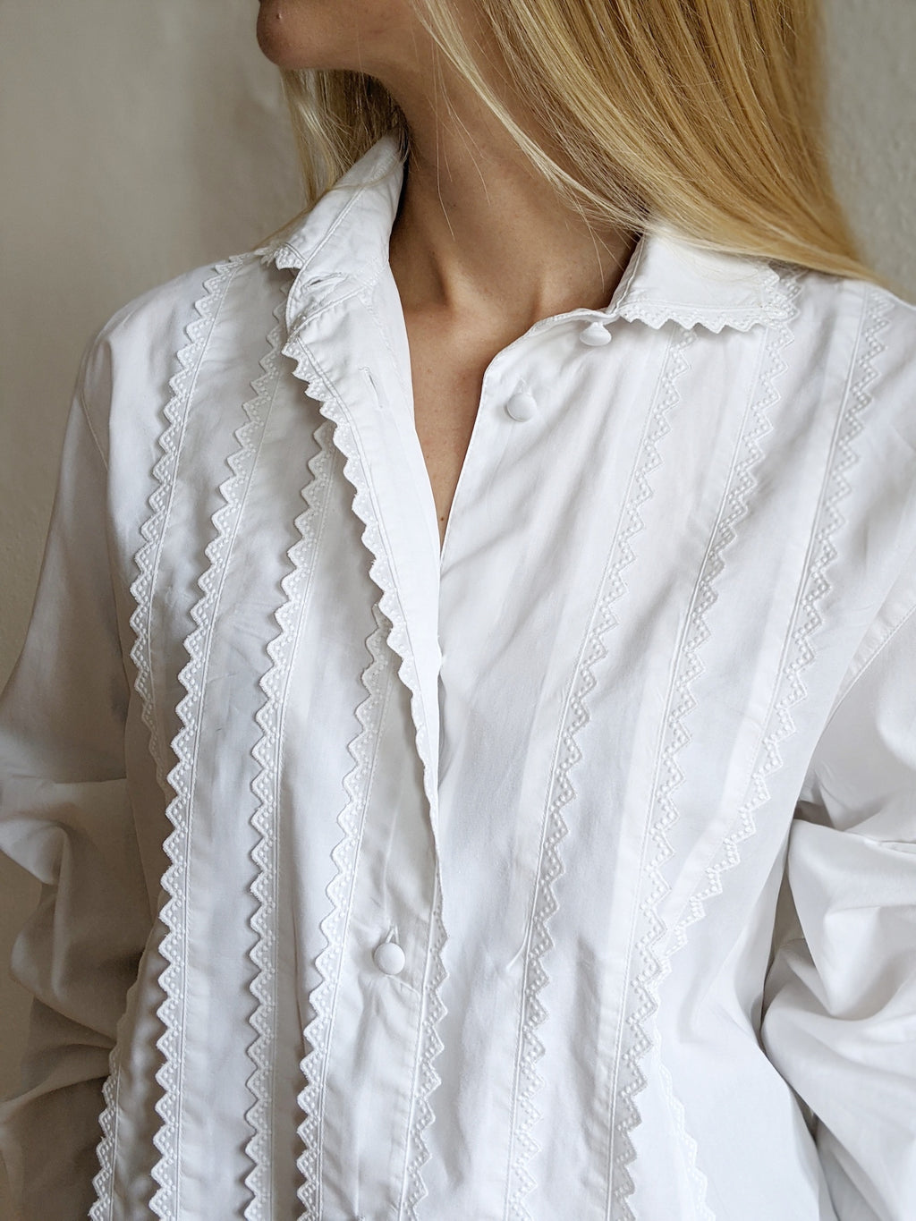 Lace-Trimmed Shirt