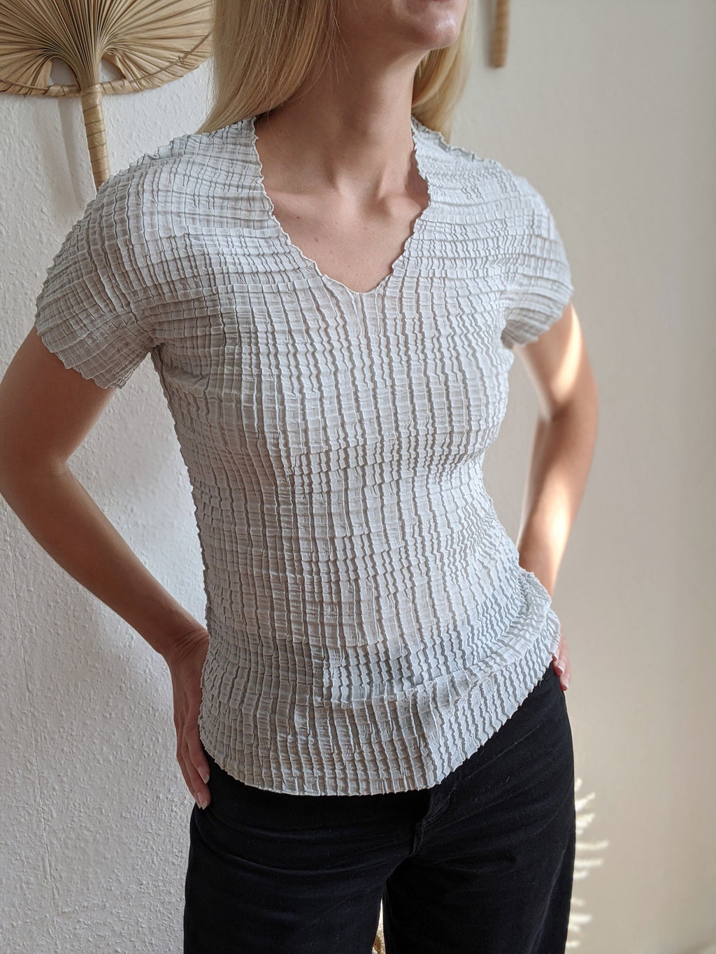 Closed Pleated Top
