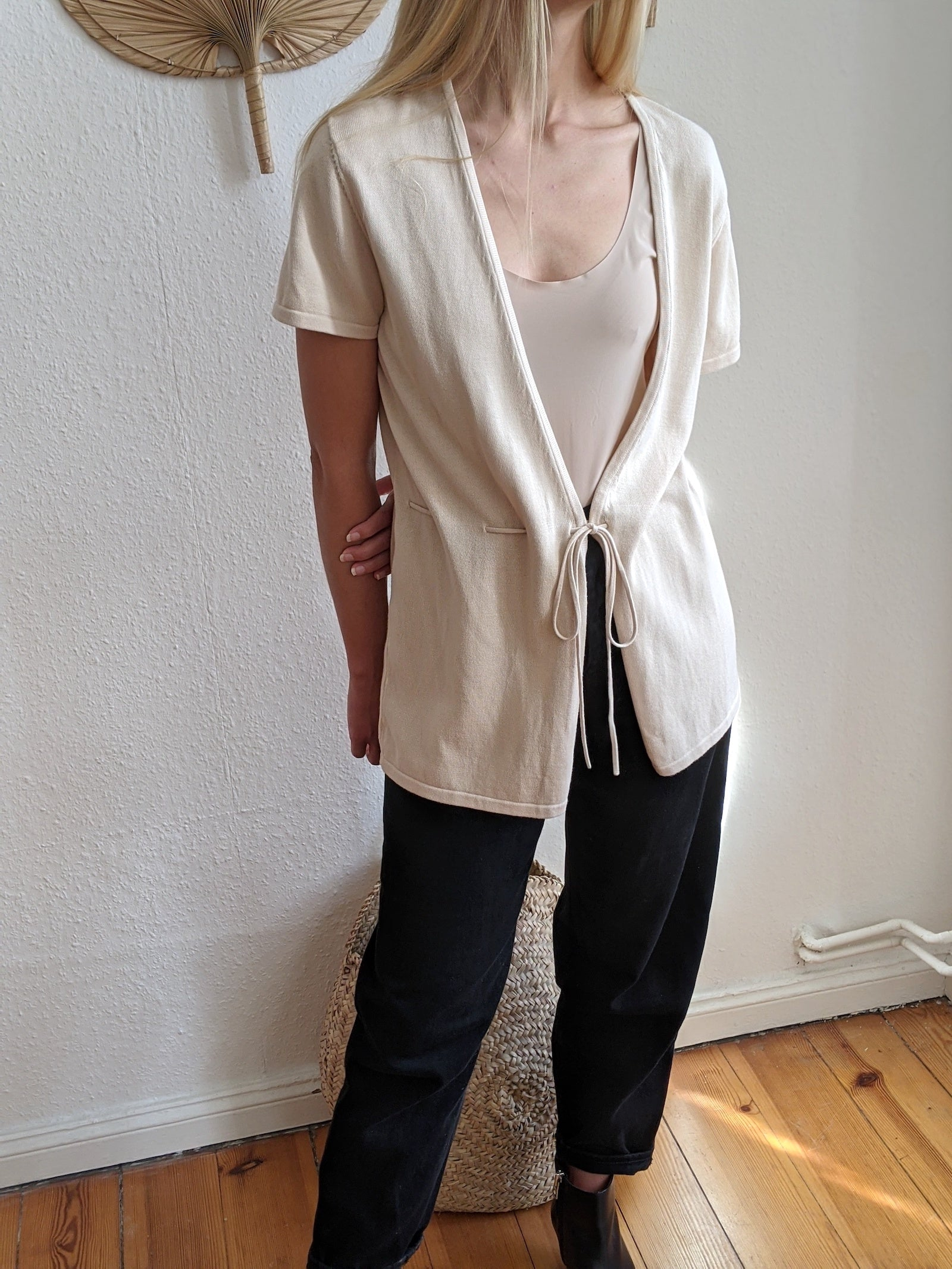 Organic Cotton Wrap Cardigan