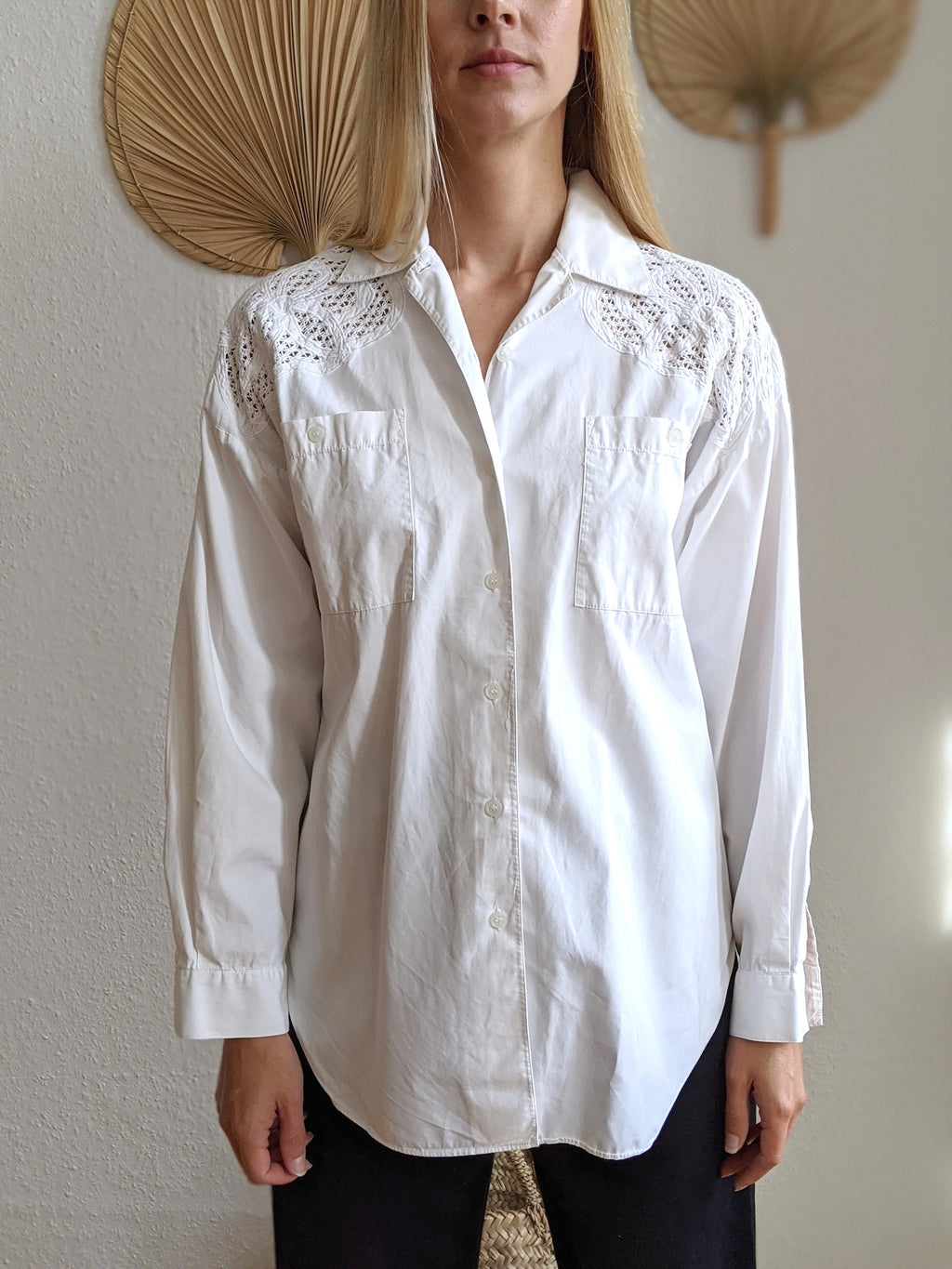 Shirt With Lace-Details