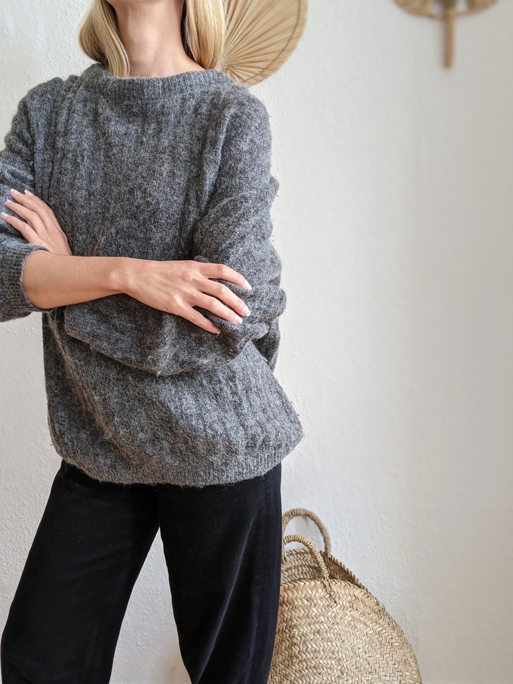 Acne Studios Dramatic Mohair Oversize Sweater