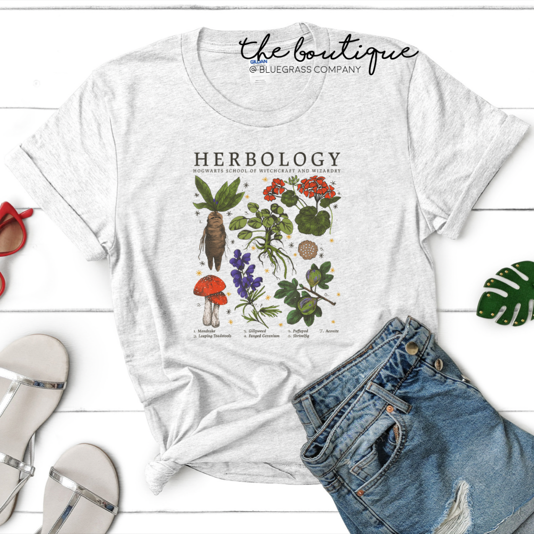 Herbology Poster Tee - Heather Ash