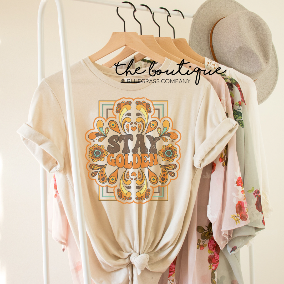 Stay Golden Retro Tee - Heather Cream