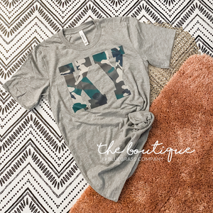 KY Camo Tee - Heather Gray