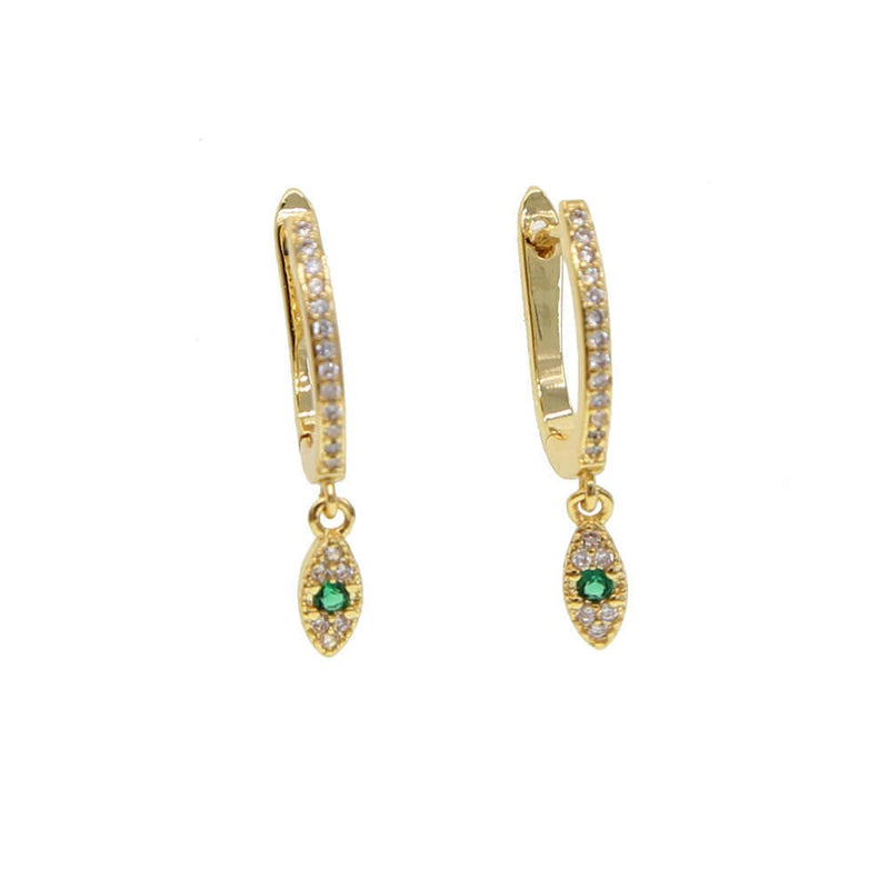 LUXURY COLLECTION EMERALD EYE EARRINGS