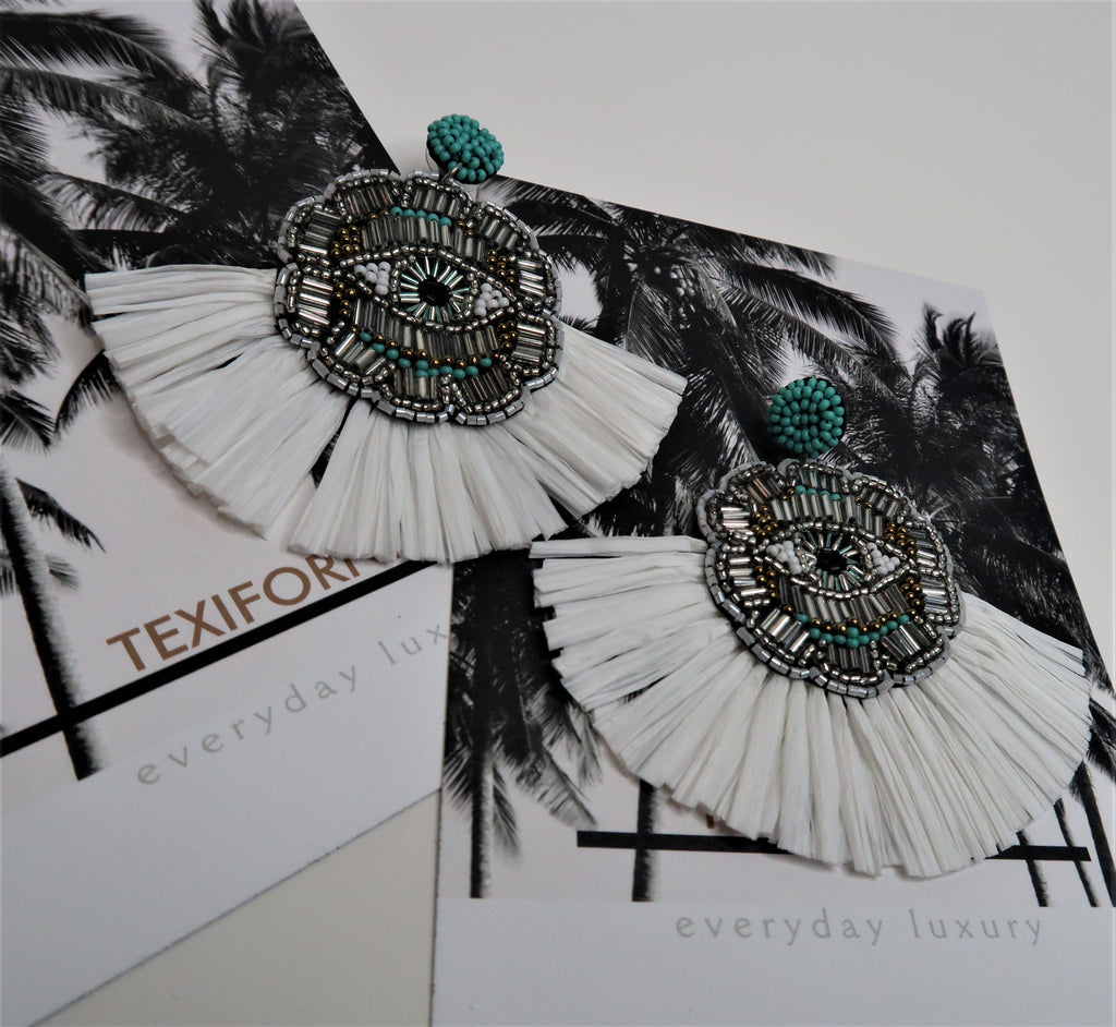 THE PALMS BEADED EARRINGS