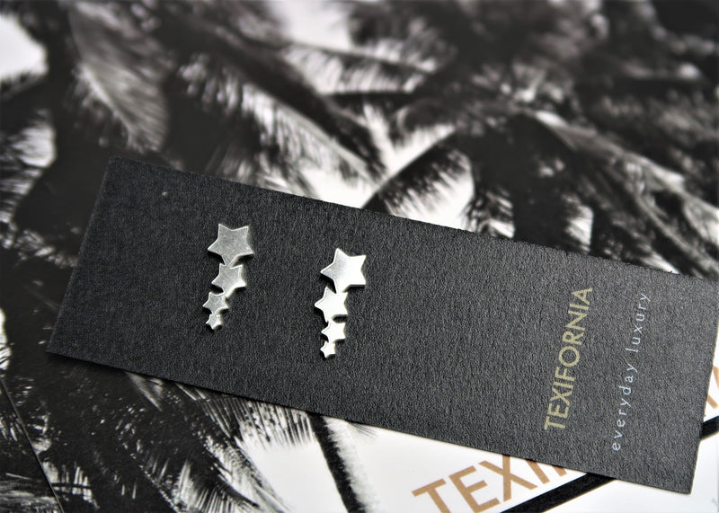 DALLAS COLLECTION STAR STUDS- SILVER