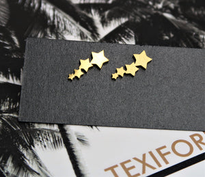 DALLAS COLLECTION STAR STUDS- GOLD