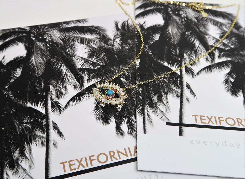 TEXIFORNIA LIMITED EDITION SIGNATURE NECKLACE - RAINBOW CRYSTAL