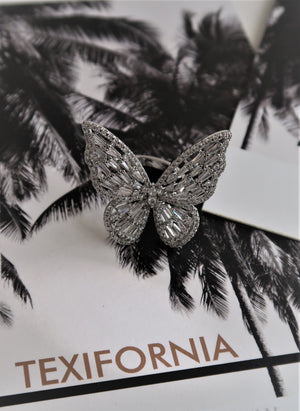 BUTTERFLY BLING RING