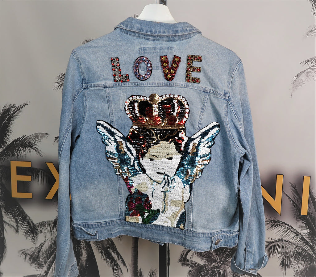 CUSTOM LOVE DENIM JACKET