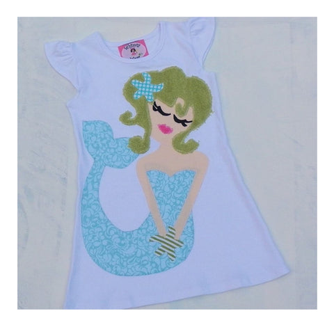 Mermaid flutter dress
