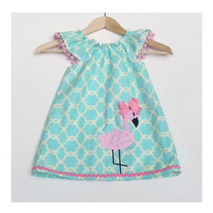 Flamingo trellis dress