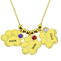 18K Gold Plating Baby Necklace with Birthstone - Silviax