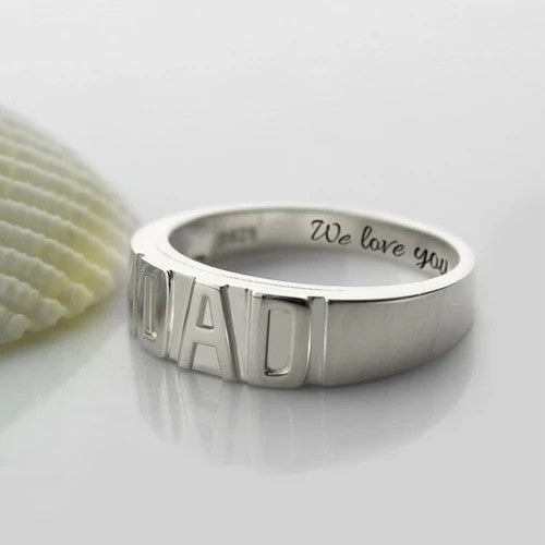 Personalized Men's Ring 925 Sterling Silver for Dad