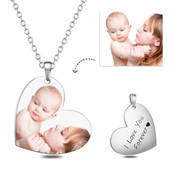 Love Heart Color Personalized Photo Necklace