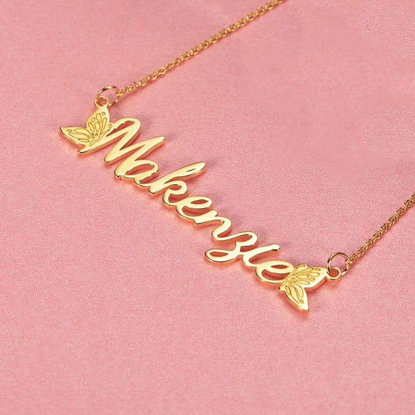 925 Sterling Silver Christmas Eve Name Necklace