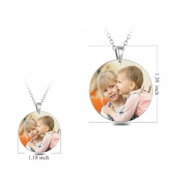 Stainless Steel Personalized Color Photo Necklace