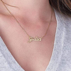 Classic Personalized 18K Gold Plated Name Necklace O Chain For Girls Women