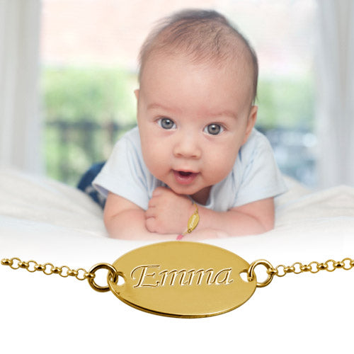Personalized Baby Bracelet in Sterling Silver